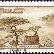 "USSR - CIRCA 1959: A stamp printed in USSR from the ""Tourist Publicity"" issue shows seashore, Far East, circa 1959. — Stock Photo"