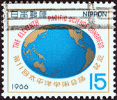 JAPAN - CIRCA 1966: A stamp printed in Japan issued for the 11th Pacific Science Congress, Tokyo shows Pacific Ocean, circa 1966. — Stock Photo