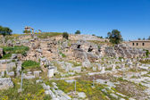 Main Agora of ancient Corinth, Peloponnese, Greece — Stock Photo