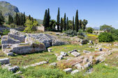 Roman Odeum of Ancient Corinth, Peloponnese, Greece — Stock Photo