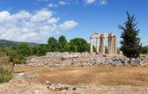 Temple of Zeus in ancient Nemea, Peloponnese, Greece — Stock Photo