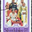 GRENADA - CIRCA 1977: A stamp printed in Grenada issued for the Coronation of Queen Elizabeth II, 25th anniversary shows Coronation, circa 1977. — Stock Photo #47766893