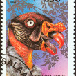 "TANZANIA - CIRCA 1994: A stamp printed in Tanzania from the ""Birds of Prey"" issue shows King vulture (Sarcoramphus papa), circa 1994. — Stock Photo #47766989"