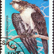 "TANZANIA - CIRCA 1994: A stamp printed in Tanzania from the ""Birds of Prey"" issue shows Osprey (Pandion haliaetus), circa 1994. — Stock Photo #47767005"