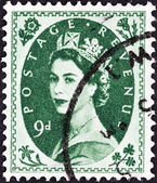 UNITED KINGDOM - CIRCA 1952: A postage stamp printed in United Kingdom shows queen Elizabeth II, circa 1952. — Foto de Stock