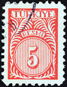 TURKEY - CIRCA 1959: A stamp printed in Turkey shows numeric value, circa 1959. — Stock Photo