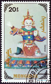 "MONGOLIA - CIRCA 1991: A stamp printed in Mongolia from the ""Buddhas "" issue shows Defend, circa 1991. — Stock Photo"