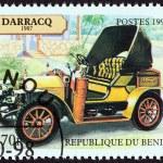 Постер, плакат: BENIN CIRCA 1998: A stamp printed in Benin from the Motor Cars issue shows Darracq Phaeton 1907 circa 1998
