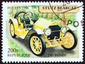 """BENIN - CIRCA 1998: A stamp printed in Benin from the """"Motor Cars """" issue shows Stutz Bearcat Speedster, 1914, circa 1998. — Stock Photo"""