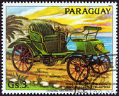 """PARAGUAY - CIRCA 1983: A stamp printed in Paraguay from the """"Antique Automobiles """" issue shows Opel Lutzmann, 1898, circa 1983. — Stock Photo"""