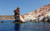 Arkoudes rocks, Milos island, Cyclades, Greece — Stock Photo