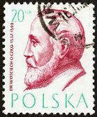 ポーランド - 年頃 1957 年の:「ポーランドの医師」問題からポーランドで印刷スタンプ年頃 1957 年の博士ヴォイチェフ oczko を示しています. — ストック写真