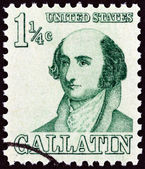 "USA - CIRCA 1967: A stamp printed in USA from the ""Prominent Americans "" issue shows Albert Gallatin, circa 1967. — Stock Photo"