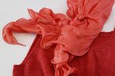 Red silk scarf — Stock Photo