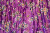 Crinkled fabric with a floral pattern — Foto de Stock