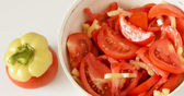 A salad of tomato and pepper — Zdjęcie stockowe