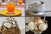 Drinks and desserts — Stock Photo
