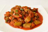 Potato stew with vegetables — Stock Photo
