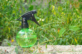 Spray on the grass — Stockfoto