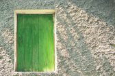 Wooden attic door — Stock Photo
