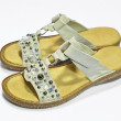 Foto Stock: Summer sandals with rhinestones