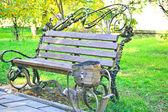Bench in the park — Stok fotoğraf