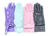 Female leather gloves isolated on background — Stock Photo