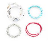 Women's jewelry bracelets and beads — Stock Photo