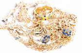 Gold and platinum jewelry for women — Stock Photo