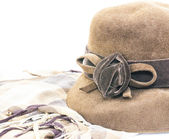 Retro mössa och halsduk — Stockfoto