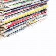 Stock Photo: Stack of old fashion magazines