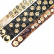 Women's leather bracelets with crystals — Stock Photo