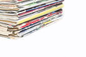 Stack of old fashion magazines — Stock Photo