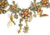 Fragment female necklace macro — Stock Photo