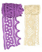 Beige and purple lace — Stockfoto