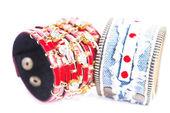 Two bracelets macro — Stock Photo