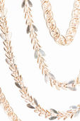 Different gold chain closeup — Stock Photo