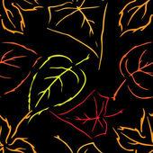 叶子的主题,与 l 秋季无缝模式的无缝图案 — 图库矢量图片