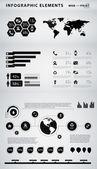 Elementos de alta calidad empresarial infografía — Vector de stock