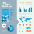 High quality business infographic elements - Imagen vectorial