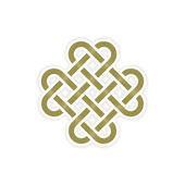 Sonsuz düğüm kavramı düzenlenebilir vektör formatında — Stok Vektör