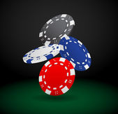 Illustration of Falling Poker Chips — Stock Vector