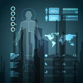 Elementos médicos infografía — Vector de stock