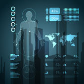 Medizinische infographik elemente — Stockvektor
