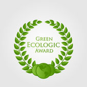 Vector natural/ecologic award — Stock Vector