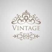 Vintage vector floral frame — Stock Vector