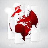Vector globe concept — Stock Vector