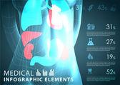 Medische infographic elementen — Stockvector