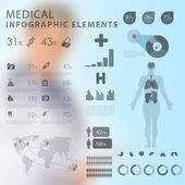 Medical infographic elements — Vettoriale Stock