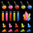 Collection of colorful alchemy elements — Stock Vector #18877873